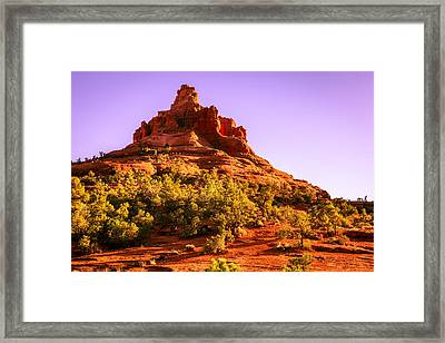 Bell Rock In Sedona Framed Print by Alexey Stiop