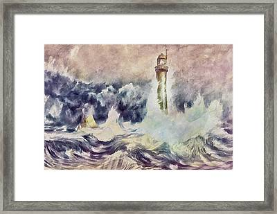 Bell Rock Lighthouse After Turner Framed Print by Georgiana Romanovna