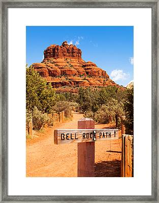 Bell Rock Path In Sedona Arizona Framed Print