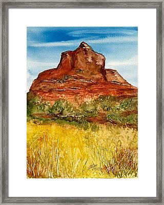 Bell Rock Sedona Arizona Framed Print by Ellen Levinson