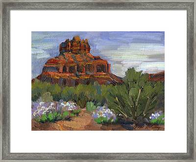 Bell Rock Sedona Framed Print by Diane McClary