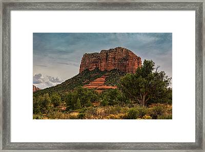 Framed Print featuring the photograph Courthouse Butte - Sedona  by Saija Lehtonen