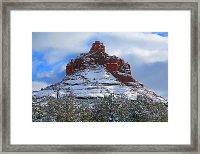 Bell Rock With Snow 2 Framed Print by Donna Kennedy