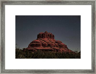 Bell Rock With Stars Framed Print by Donna Kennedy