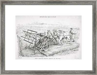 Bell S Improved Reaping Machine By Framed Print by Vintage Design Pics