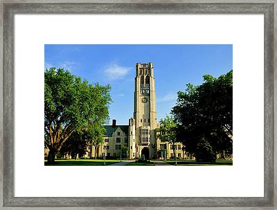 Bell Tower At The University Of Toledo Framed Print