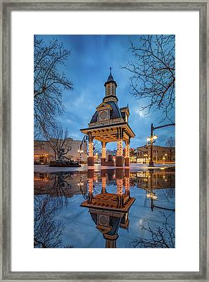 Bell Tower  In Beaver  Framed Print by Emmanuel Panagiotakis