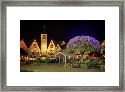Bell Tower Square Christmas Framed Print