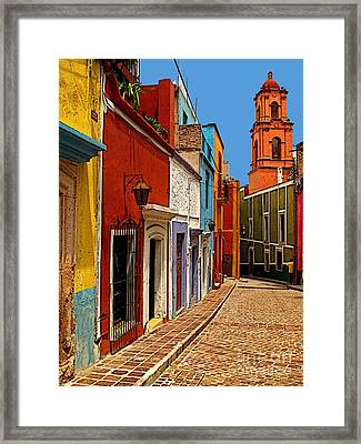 Bell Tower View Framed Print by Mexicolors Art Photography
