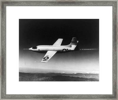 Bell X-1 Rocket Plane In Which Chuck Framed Print by Everett