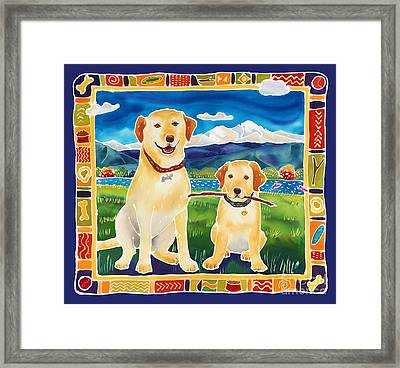 Bella And Bruno's Fine Day Framed Print by Harriet Peck Taylor