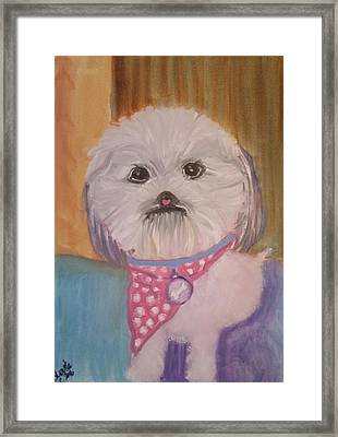 Framed Print featuring the painting Bella Baby by Carol Duarte