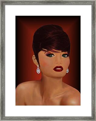 Bella Donna Italiana Framed Print by Carol Sue Bushell-Bousman