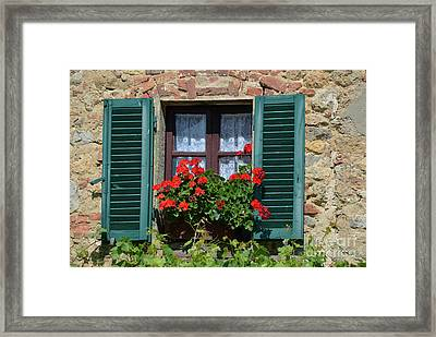Bella Italian Window  Framed Print