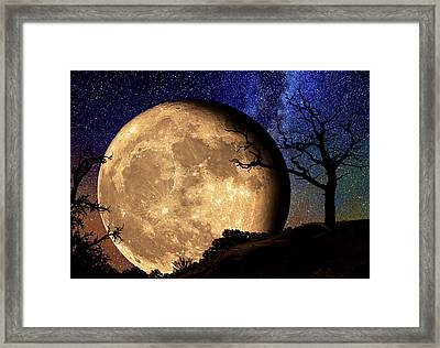 Bella Luna From Another World Framed Print