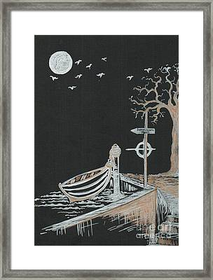 Bella Lunar Point Framed Print