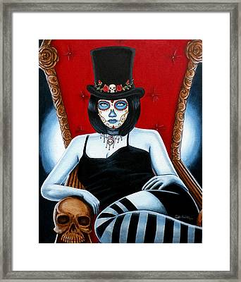 Framed Print featuring the painting Bella Muerte 2016 by Al  Molina
