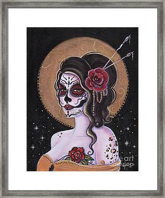Bella Muerte Day Of The Dead Framed Print