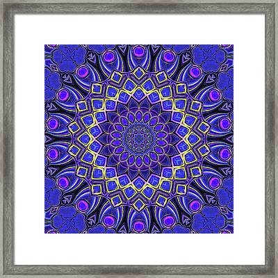 Framed Print featuring the digital art Bella - Purple by Wendy J St Christopher