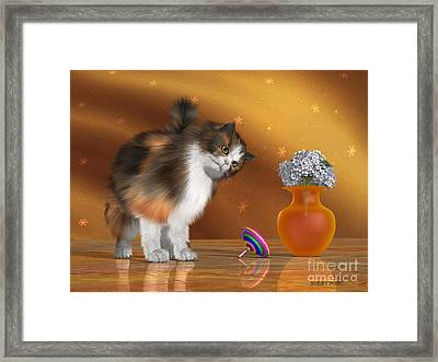 Bella The House Cat Framed Print by Corey Ford