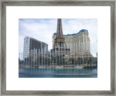 Bellagio Fountain 1 Framed Print by Anita Burgermeister