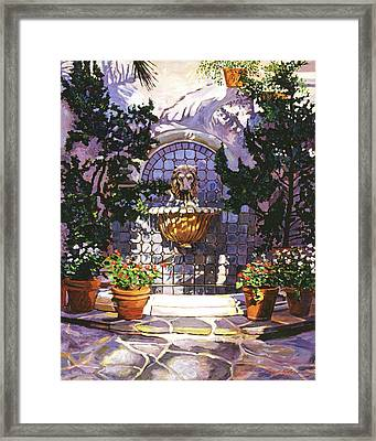 Bellagio Fountain Framed Print by David Lloyd Glover