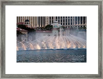 Bellagio Fountain Patterns 1 Framed Print
