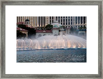 Bellagio Fountain Patterns 2 Hotel Casino Fountains Las Vegas Nevada Framed Print