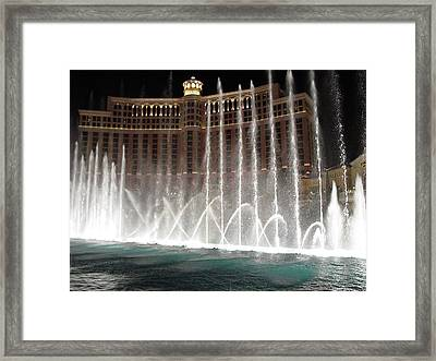Bellagio Fountains Framed Print by Greg Brandt