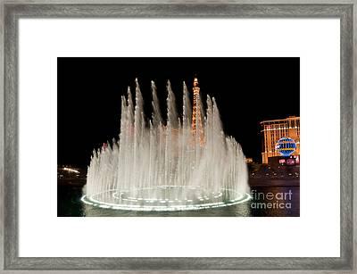 Bellagio Fountains Night 3 Framed Print