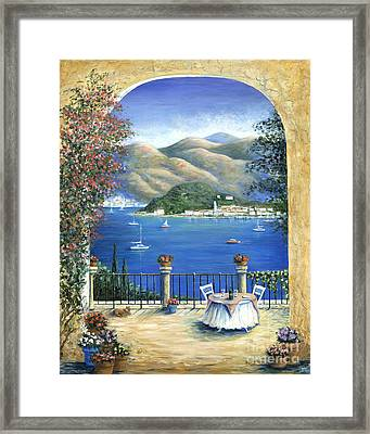 Bellagio Lake Como From The Terrace Framed Print by Marilyn Dunlap