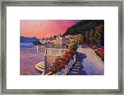 Bellagio Lake Como Framed Print by Santo De Vita