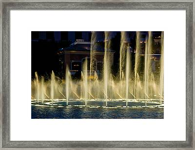 Bellagio Light Show - Lasvegas Framed Print by Neil Doren