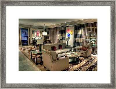 Bellagio Penthouse Suite Framed Print by Eddie Yerkish