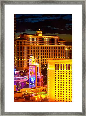 Bellagio  Planet Hollywood  Framed Print by James Marvin Phelps