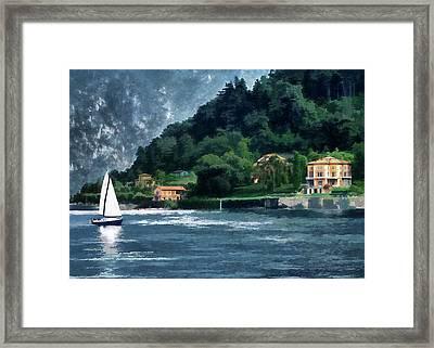Bellagio Villa Framed Print