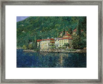 Bellano On Lake Como Framed Print by Guido Borelli