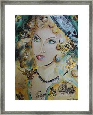 Belle De Nuit Framed Print by Victoria Rosenfield