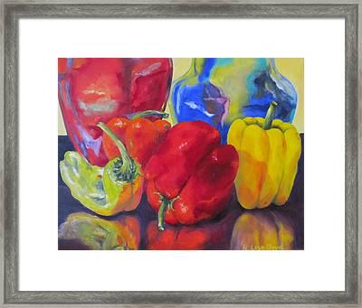Belle Peppers Framed Print by Lisa Boyd