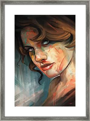 Framed Print featuring the digital art Belle by Steve Goad