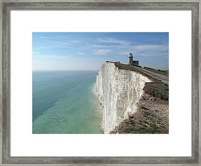 Belle Tout Lighthouse, East Sussex. Framed Print