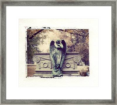 Bellefontaine Angel Polaroid Transfer Framed Print by Jane Linders