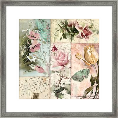 Belles Fleurs II Framed Print