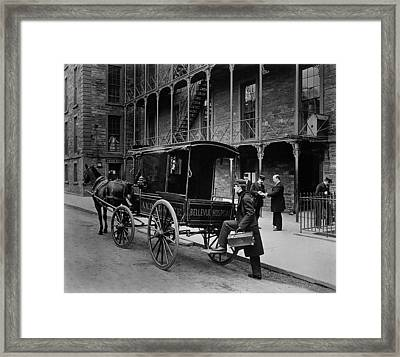 Bellevue Hospital Ambulance 1895 Framed Print by Mountain Dreams