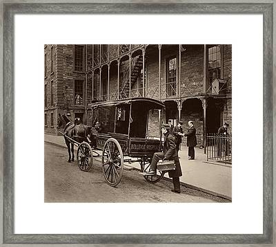 Bellevue Hospital Ambulance 1895 Framed Print