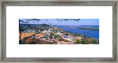 Bellevue State Park And Great River Framed Print by Panoramic Images