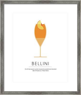 Bellini Classic Cocktail - Minimalist Print Framed Print