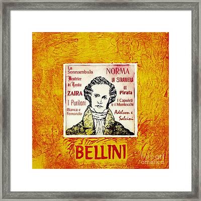 Bellini Portrait Framed Print by Paul Helm