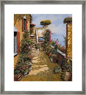 Bello Terrazzo Framed Print by Guido Borelli