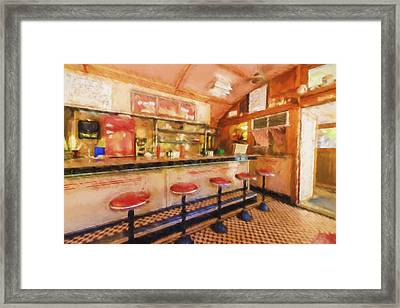 Bellows Falls Diner Framed Print